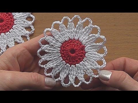 CROCHET Flower Motif Easy Tutorial