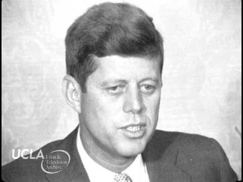 "KTLA News: ""Senator John F. Kennedy gives press conference in Los Angeles"" (1959)"