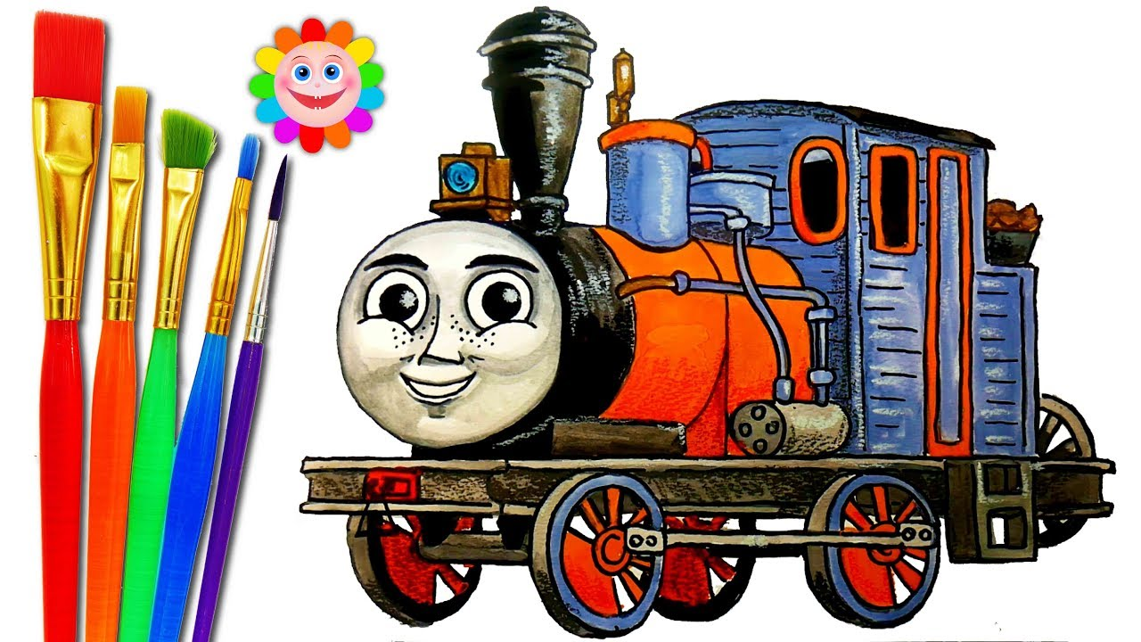 How to DRAW Train Thomas and Friends TRAINS Video for KIDS Coloring     How to DRAW Train Thomas and Friends TRAINS Video for KIDS Coloring Pages  DASH