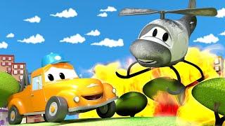 Вертолёт Гектор - Автомойка Эвакуатора Тома в Автомобильный Город 💧 детский мультфильм