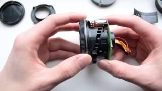 Как разобрать EF 50mm f1.8 II (видео инструкция)(Объектив Canon EF 50mm f/1.8II 00:40 - выкручиваем два винтика фиксирующих одуванчик 01:05 - про пихаем колодку контактов..., 2013-04-15T17:12:11.000Z)
