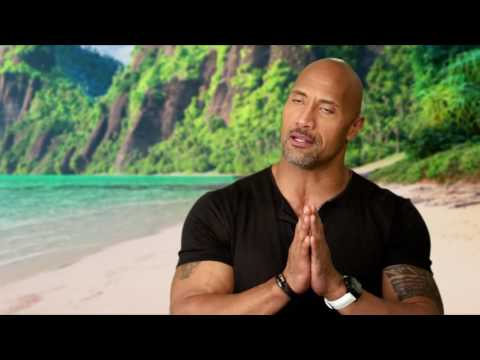 "Moana: Dwayne Johnson ""Maui"" Behind the Scenes Movie Interview"