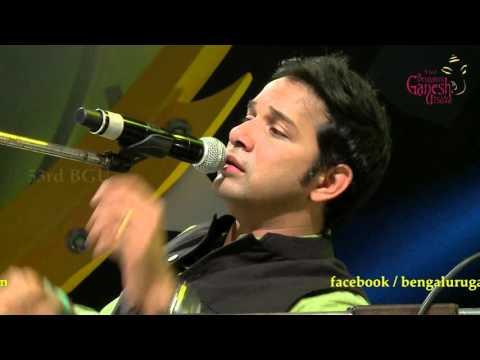 """""""Maha Ganapathim"""" Classical Song by Karthik @ 53rd Bengaluru Ganesh Utsava..!!!!"""