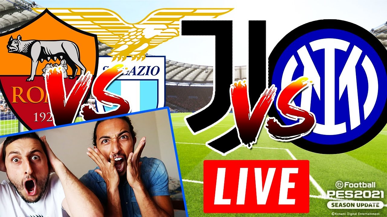 ROMA-LAZIO e JUVENTUS-INTER: PRONOSTICI GAMEPLAY IN LIVE!!! [PES 2021]
