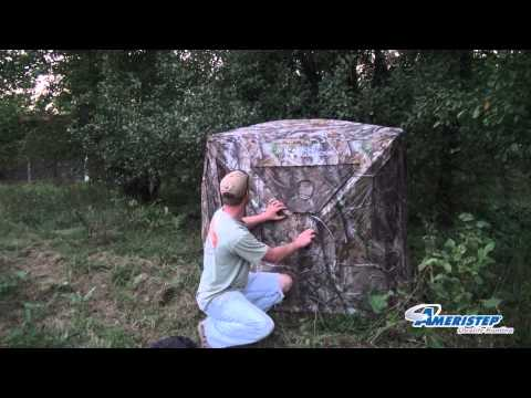 How To Set Up A Hub Style Hunting Blind Ameristep Bone Collector