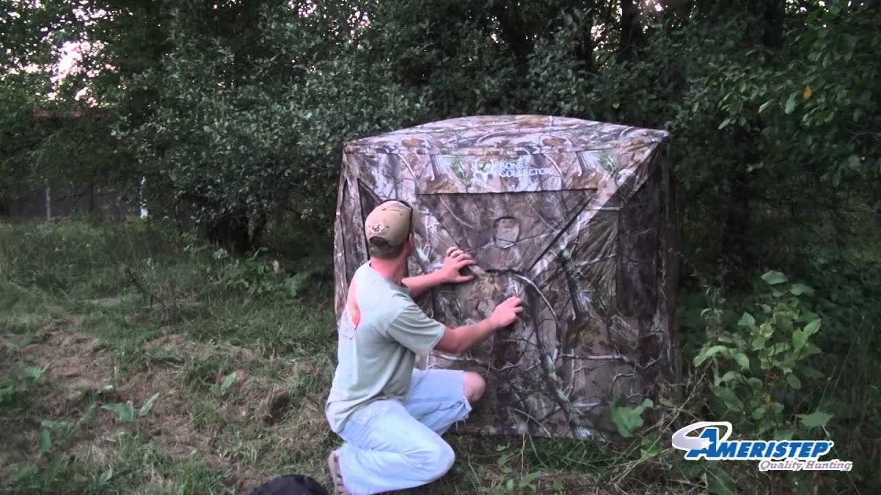 How To Set Up A Hub Style Hunting Blind Ameristep Bone