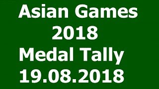 Asian Games 2018 Medal Tally 19.08.2018. Today India won Gold