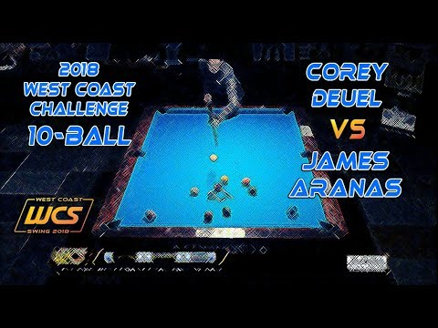#5 - Corey DEUEL Vs James ARANAS / 2018 West Coast Challenge 10-Ball!
