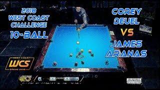 #5 - Corey DEUEL vs James ARANAS / 2018 West Coast Challenge 10-Ball!