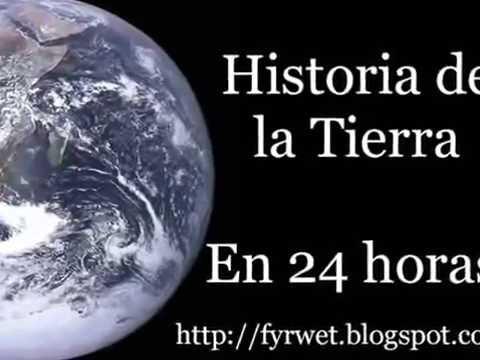 Historia del Planeta Tierra en 24 horas- Información de Wikipedia