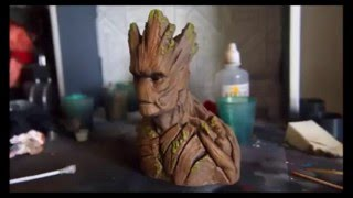 Insane 3D printing time-lapse of Groot from Guardians of the Galaxy.