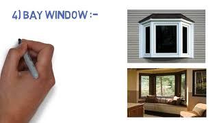 TYPES OF WINDOW in CIVIL ENGINEERING.