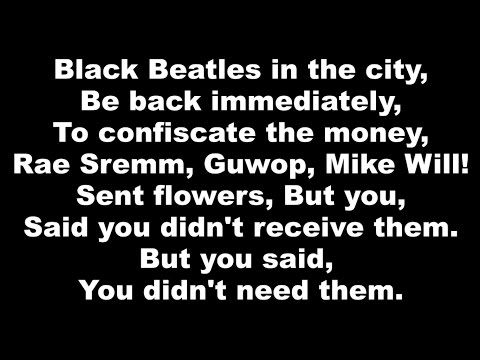 Rae Sremmurd ft. Gucci Mane - Black Beatles (Clean w/ Lyrics)
