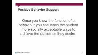 Positive Behaviour Support for Engagement and Learning
