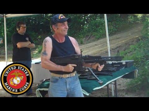 Vietnam Veteran on an M60 Machine Gun