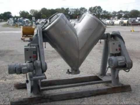 Used- Patterson Kelley Twin Shell Liquid Solids 10 Cu. Ft. Blender - Stock# 41833001