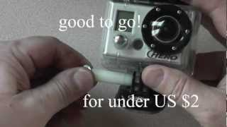 How to Make A GoPro Thumb Screw