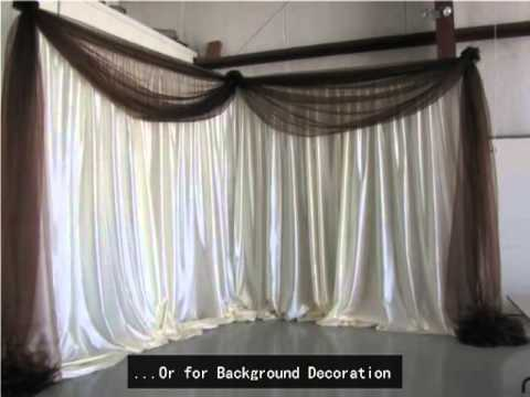 RK Pipe and drape for wedding application - YouTube