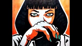 Drawing MIA WALLACE from Pulp Fiction