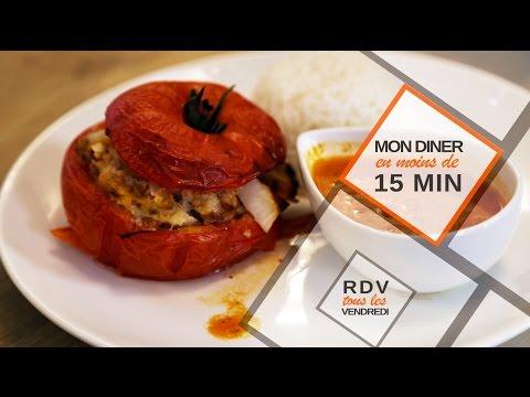 Tomates farcies en moins de 15 minutes