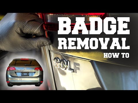 How to Remove the Rear Badges and Emblems from a VW Golf or GTI