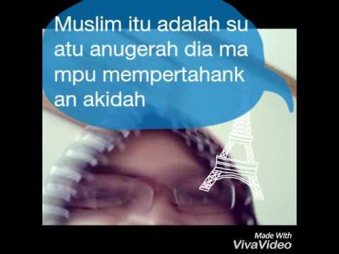 Aku muslim dan bangga jadi muslim