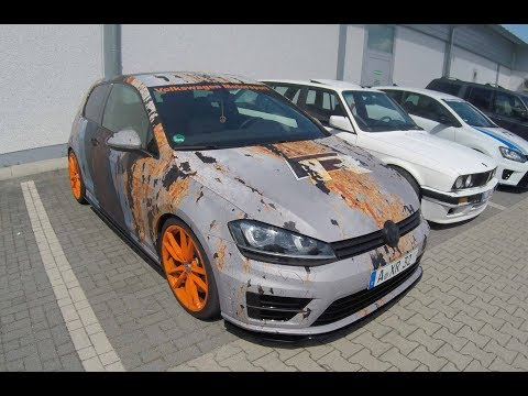 VW GOLF VII R COMPILATION 2: WRAP + BLUE COLOUR ! WALKAROUND