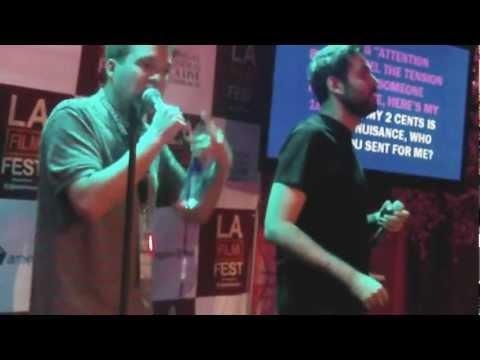 Karaoke...two fun dudes take stage at LA Film Festival!