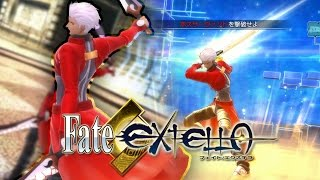 ARCHER (Nameless) VS LANCER | Fate/EXTELLA: The Umbral Star ARCHER (Nameless) Gameplay (PS4/PS Vita)