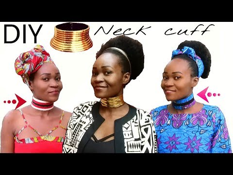 How to-DIY African Neck Rings (Idzila) using belts-Repurposing