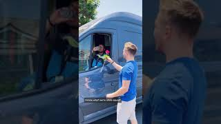 CHASING Amazon Driver to Give Him A Rose