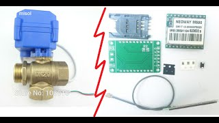 Шаровой (шаровый) кран с электроприводом, Neoway M590 с Aliexpress(GSM модуль M590 компакт http://fas.st/iPxPS Шаровой шаровый кран с электроприводом http://fas.st/Kl6tm Регулируемый блок питани..., 2016-05-24T10:57:25.000Z)