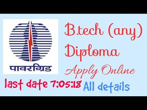 Power grid corporation ( B.tech , Diploma, BSc.)
