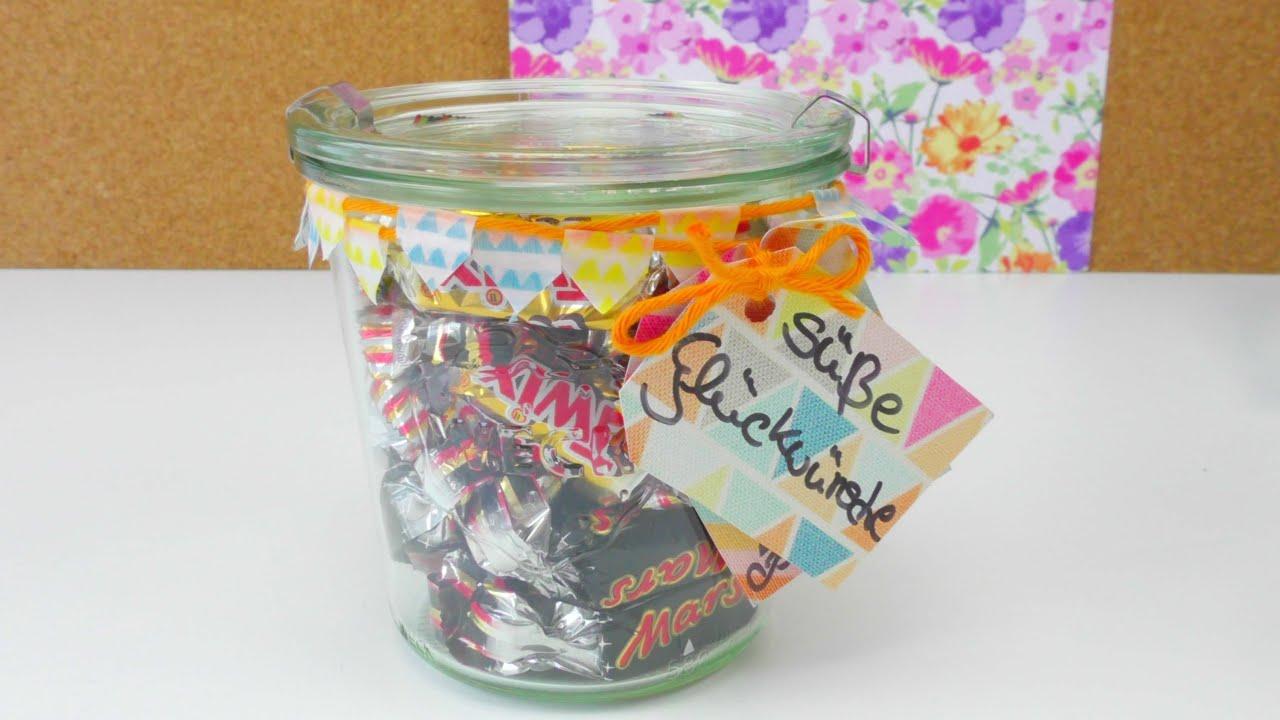 Geschenkidee DIY / Glas gestalten und verschenken ...