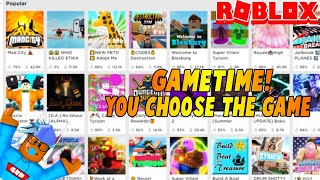 ROBLOX GAMETIME! | YOU CHOOSE THE GAME!| #RoadTo12.3k| ROBUX GIVEAWAY!| ROBLOX LIVE Stream🔴