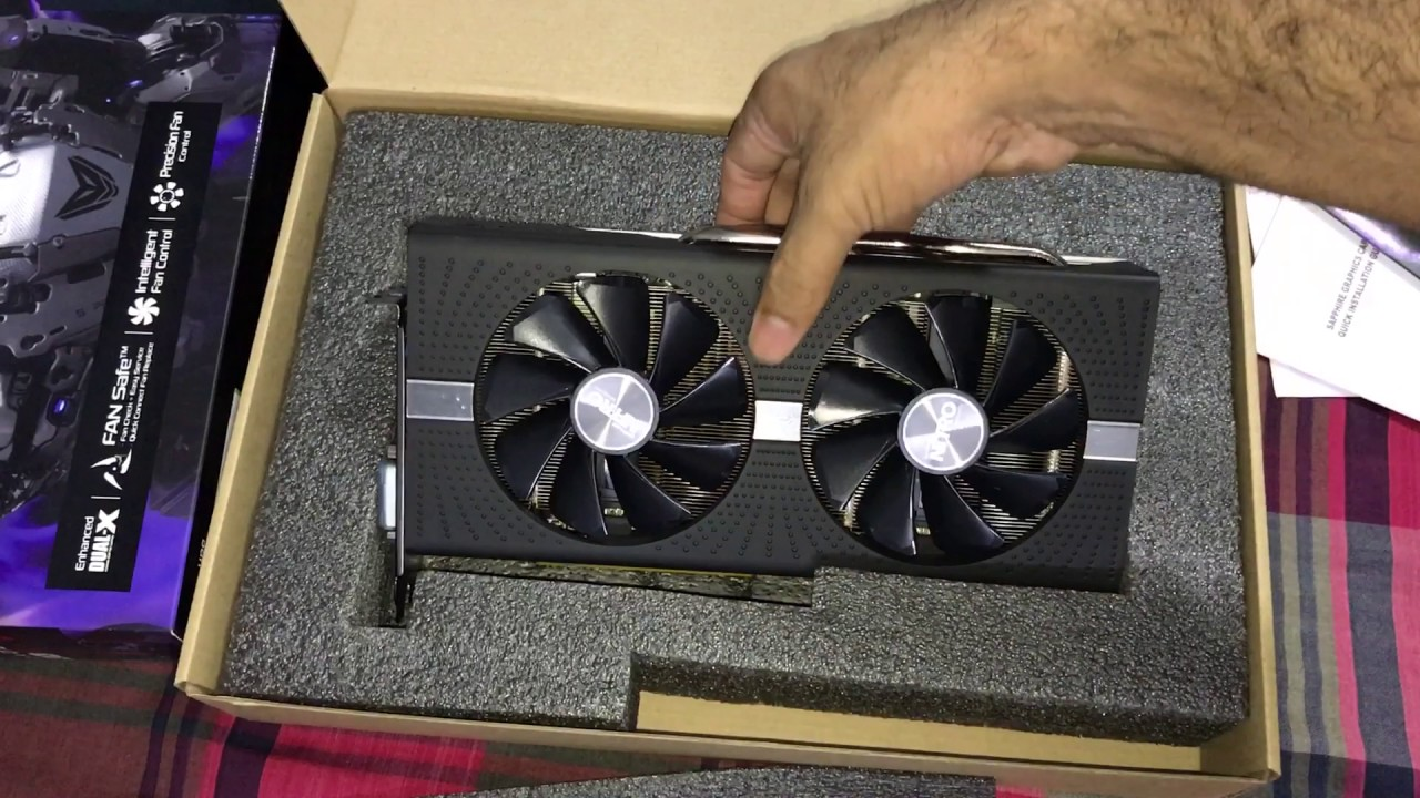 SAPPHIRE NITRO+ Radeon RX 580 8/4GB AMD Graphics card Unboxing
