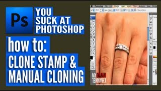 You Suck at Photoshop - Clone Stamp and Manual Cloning thumbnail