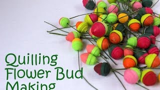 Quilling Flower Closed Bud - Tutorial