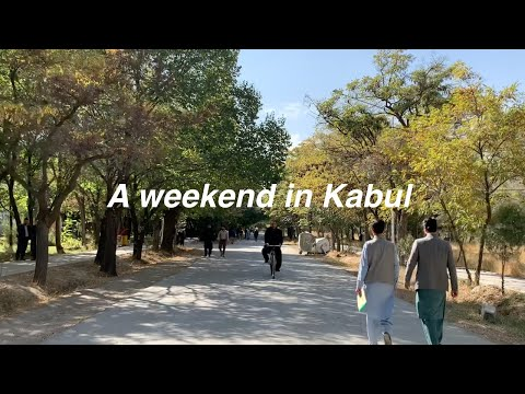a tour of Kabul university   roaming old shops   a weekend cafe visit