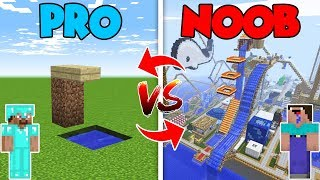 Minecraft NOOB vs. PRO :NOOB BUILDING TOBOGAN in Minecraft (Compilation)