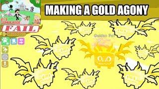Pet Simulator Roblox I made A gold Agony Bad Idea !!!!!