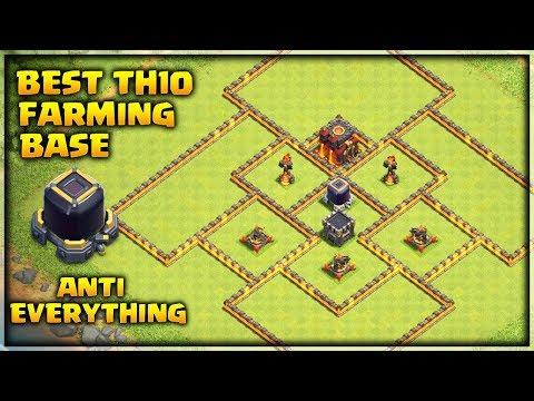 Best Th10 Farming Base 2019 -Never Lose Dark Elixir  Anti Everything | Clash of Clans