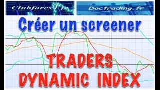 Traders Dynamic Index : créer un screener et un indicateur