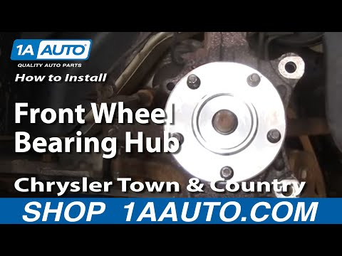 How To Install Replace Front Wheel Bearing Hub Chrysler Town And Country 96-07 1AAuto.com