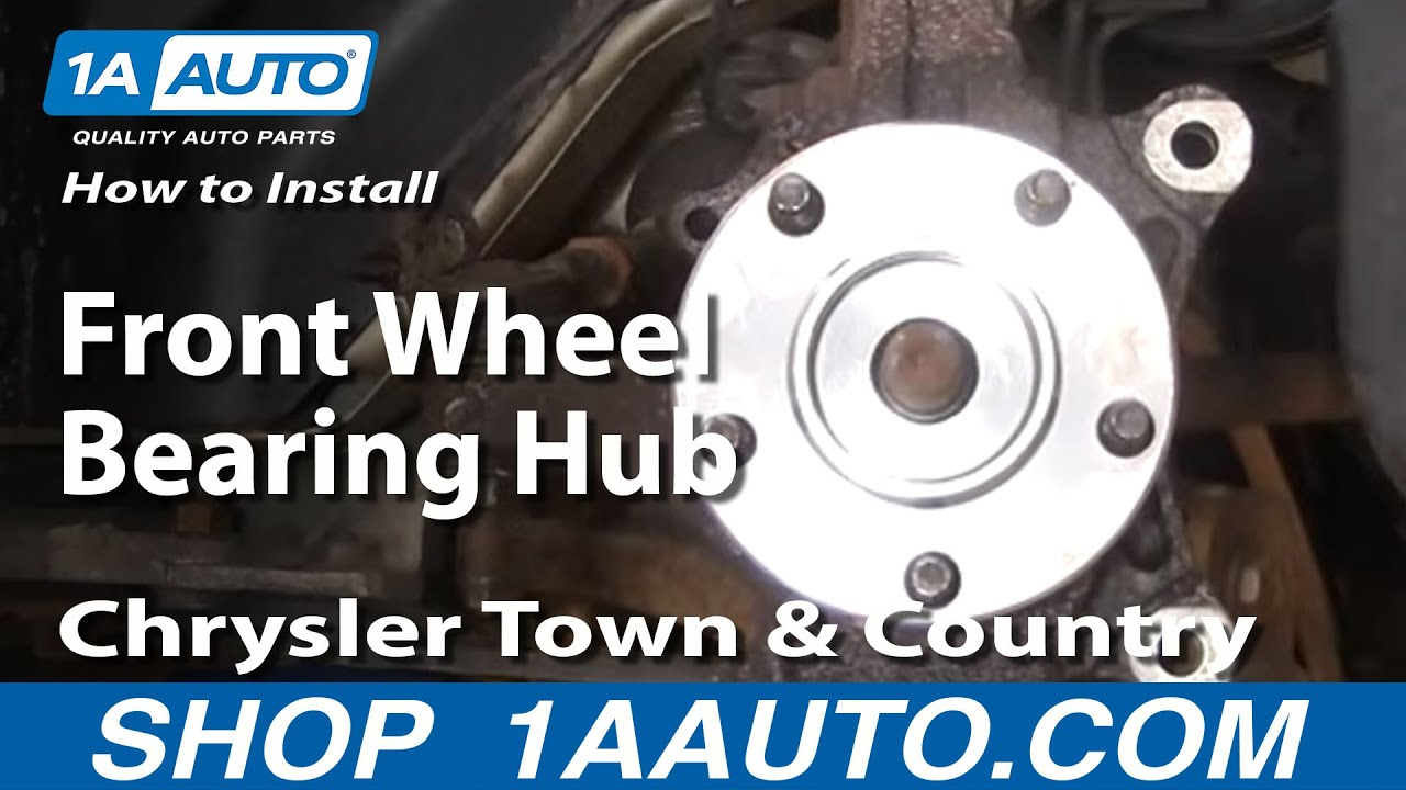 hight resolution of how to install replace front wheel bearing hub chrysler town and country 96 07 1aauto com youtube