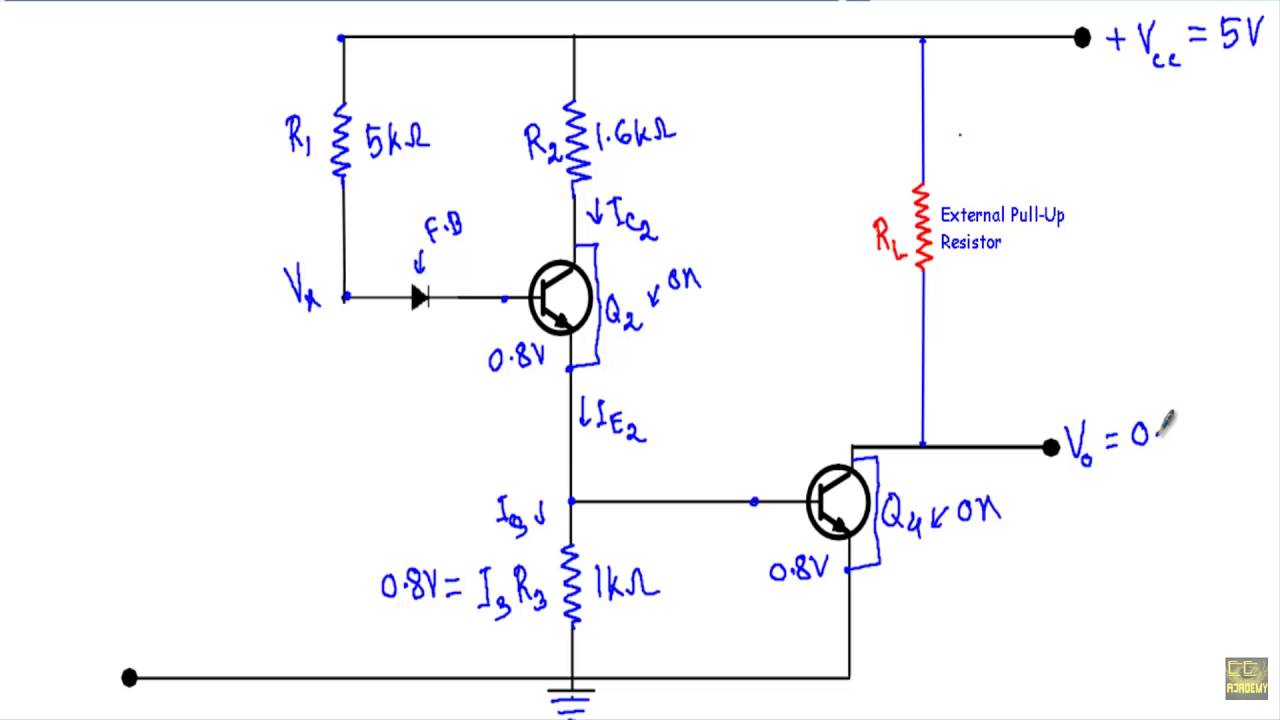 Circuit Diagram Of Ttl Nand Gate Trusted Wiring Logic Open Collector Youtube Diode