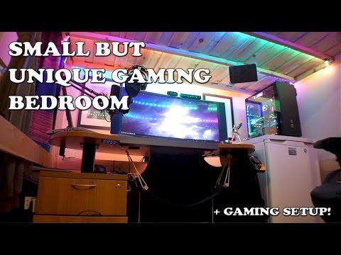 small gaming bedroom setup