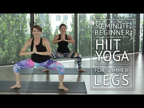 30-Minute Beginner HIIT Yoga for Slimmer Legs | HER Network