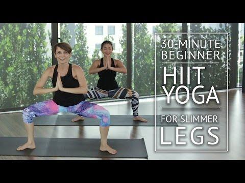 30-Minute Beginner HIIT Yoga for Slimmer Legs | HER Network