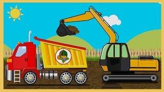 toy truck videos for children construction vehicles for kids excavator for children heavy machine